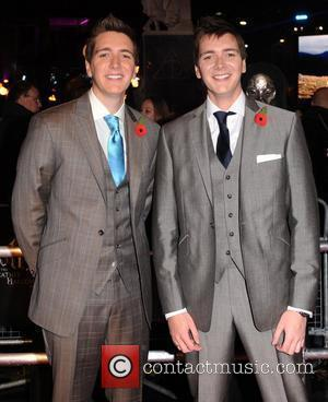 James Phelps and Oliver Phelps World Premiere of 'Harry Potter and the Deathly Hallows Part 1' held at the Odeon...