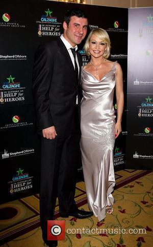 Joe Calzaghe and Kristiana Rianhoff