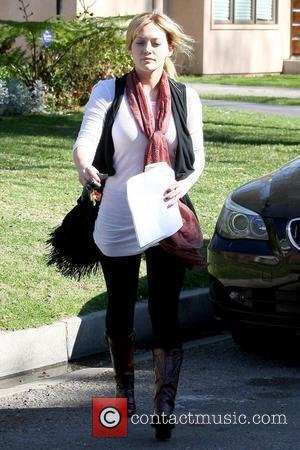 Hilary Duff leaving a private residence in North Hollywood while holding a script Los Angeles, California - 03.02.10