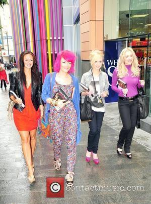 Jennifer Metcalfe, Jorgie Porter, Gemma Merna and Hollie Jay Bowes who play the characters Mercedes McQueen, Theresa McQueen, Carmel Valentine...