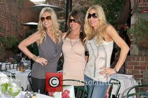 Tamra Barney, Lynne Curtin and Peggy Tanous Cast members of 'The Real Housewives of Orange County' eating lunch at The...