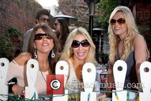 Lynne Curtin, Peggy Tanous and Tamra Barney Cast members of 'The Real Housewives of Orange County' eating lunch at The...