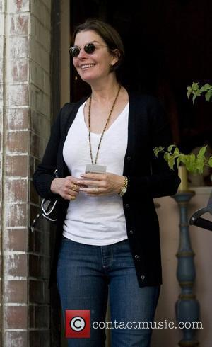 Sela Ward leaves The Ivy on Robertson Boulevard Los Angeles, California - 08.01.10