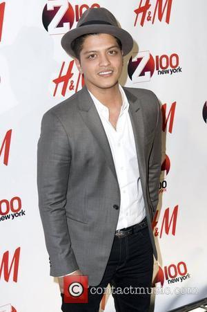 Bruno Mars Z 100's Jingle Ball 2010 presented by H&M at Madison Square Garden - Arrivals New York City, 10.12.10