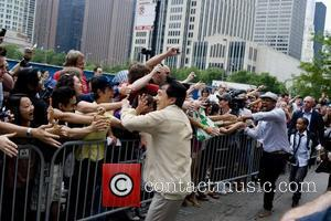 Jackie Chan, Will Smith and Jaden Smith  Chicago premiere of 'The Karate Kid' at AMC River East 21 movie...