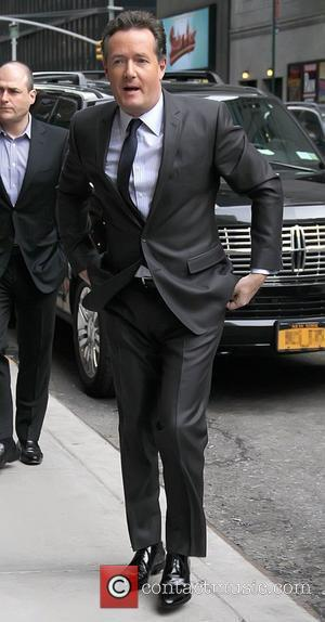 Piers Morgan Celebrities at The Ed Sullivan Theater for 'The Late Show with David Letterman'  New York City, USA...
