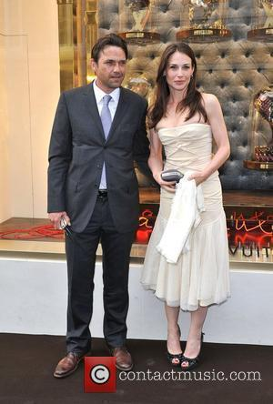 Dougray Scott and Claire Forlaine Louis Vuitton unveils the New Bond Street Maison. London, England - 25.05.10