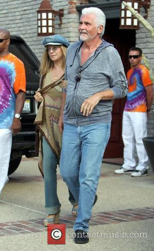 Barbara Streisand and James Brolin leaving memorial day party at a private residence in Mailbu on the Pacific Coast highway...