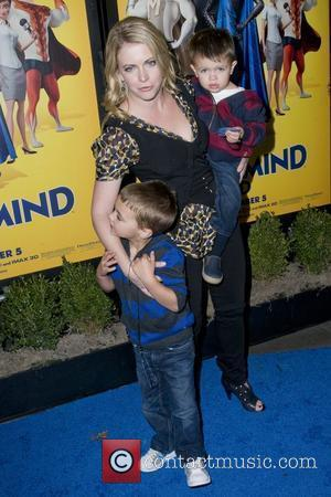 Melissa Joan Hart and sons Mason Walter Wilkerson and Braydon Hart Wilkerson The New York Premiere of 'Megamind' held at...