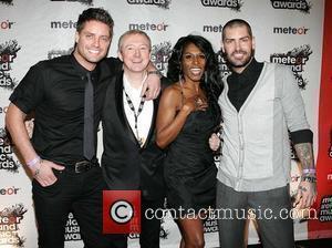 Keith Duffy, Louis Walsh, Sinitta, Shane Lynch Meteor Ireland Music Awards at the RDS Dublin - Arrivals Dublin, Ireland -...
