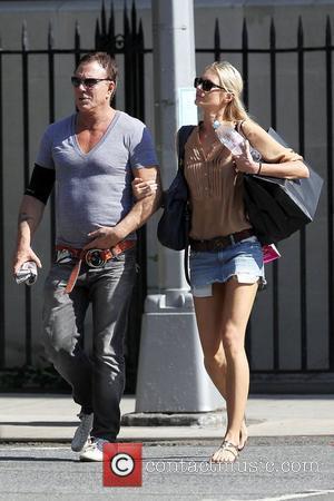 Mickey Rourke and girlfriend Anastassija Makarenko shopping together in the West Village New York City, USA - 02.07.10