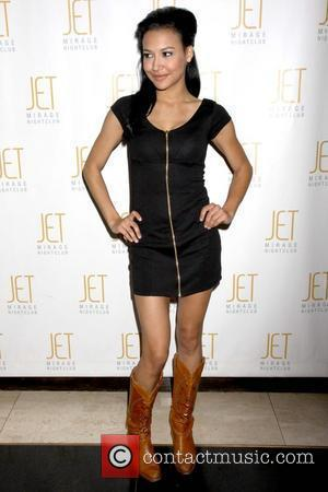 Naya Rivera  celebrates her birthday with fellow 'Glee' cast members at Jet nightclub inside The Mirage Resort Hotel Casino...