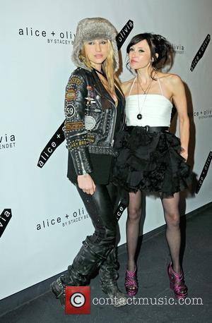 Ke$ha and Stacey Bendet at alice + olivia by Stacey Bendet Fall 2010 Presentation, New York, feb 13th 2010
