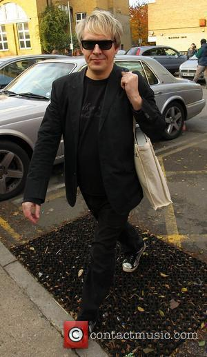 Nick Rhodes arriving at recording studio in South London London, England -