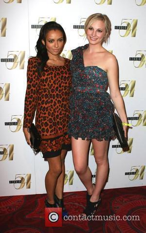 Katerina Graham and Candice Accola Nina Dobrev celebrates her 21st Birthday at Studio 54 inside the MGM Grand Resort Hotel...