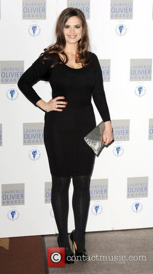 Hayley Atwell attends The Laurence Olivier Awards at The Grosvenor House Hotel  London, England - 21.03.10