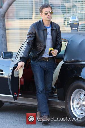 Olivier Martinez getting out of his car while out running errands Los Angeles, California - 09.10.10