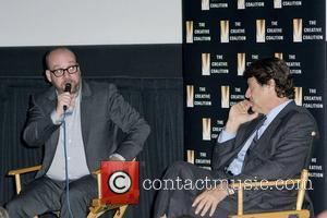 Paul Giamatti and Robert Lantos at a special preview of Barney's Version part of Creative Coalition's Spotlight Initiative Screening Series...