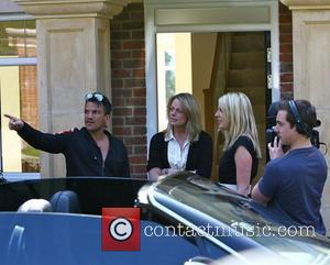 Peter Andre at his new house with a camera crew Sussex, England - 23.04.10