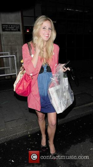 Diane Vickers arrives at the BBC Radio 1 Building London, England - 25.04.10