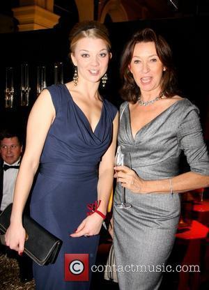 Natalie Dormer, Cherie Lunghi  Red Night Dinner photocall held at Old Billingsgate  London, England - 08.11.10