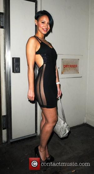 Amelle Berrabah leaves the 21st birthday party of Rochelle Wiseman held at the Mayfair Hotel London, England - 21.03.10
