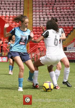 Kaya Scodelario, Su Elise Nash Celebrity Soccer Six 2010 - Charlton Athletic FC, The Valley.  London, England - 31.05.10