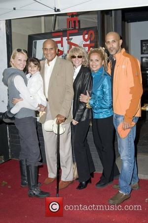Malena Belafonte, Sarafina Belafonte, Harry Belafonte, Pamela Belafonte, Shari Belafonte and David Belaftone Shari Belafonte's 'Italy' exhibition opening at Chair...