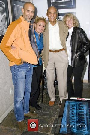 David Belafonte, Shari Belafonte, Harry Belafonte and Pamela Belafonte Opening Night of Shari Belafonte's Italy exhibit New York City, USA...