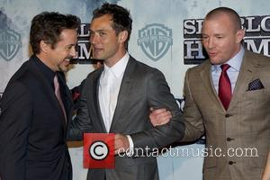 Robert Downey Jr, Jude Law, Guy Ritchie Premiere of 'Sherlock Holmes' at Kinepolis cinema Madrid, Spain - 13.01.10