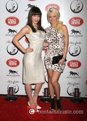 Claire Sinclair and Holly Madison Playboy Playmate Claire Sinclair guest stars at The Crazy Horse Paris at the MGM Grand...
