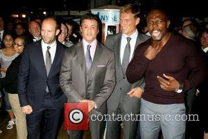 Jason Statham, Sylvester Stallone, Dolph Lundgren and Terry Crews The cast of 'The Expendables' visits the New York Stock Exchange...
