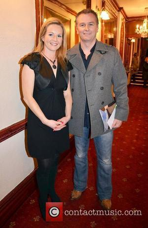 Daithi O'Se, Claire Byrne,  at the opening night of John B Keane's 'The Field' at The Olympia Theatre -...