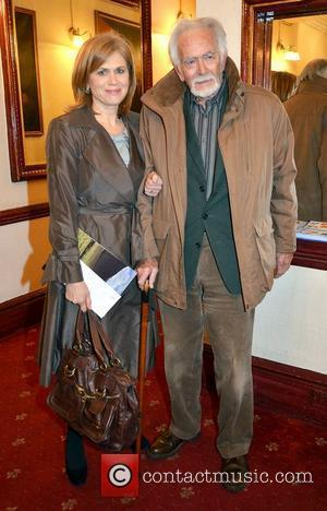 Anne Cassin, father Barry Cassin,  at the opening night of John B Keane's 'The Field' at The Olympia Theatre...