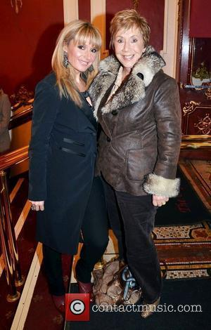 Tara Sinnott & mother Ann Williams,  at the opening night of John B Keane's 'The Field' at The Olympia...