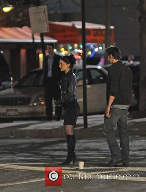 Archie Panjabi  on the set of 'The Good Wife' in Queens New York City, USA - 10.04.10