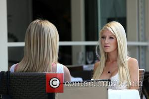 Kristin Cavallari and Heidi Montag MTV Reality Show 'The Hills' filming on location at Porta Via in Beverly Hills. Los...