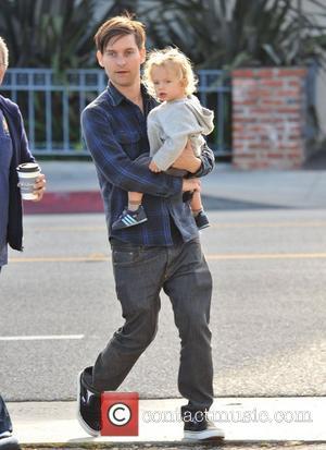 Tobey Maguire and his son, Otis Tobias, head out for a family lunch in Santa Monica Santa Monica, California -...
