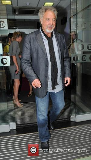 Tom Jones outside the BBC Radio One studios London, England - 27.07.10