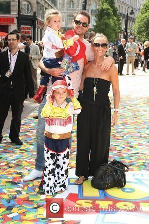 Danny Dyer with his family UK premiere of 'Toy Story 3' held at the Empire cinema London, England - 18.07.10