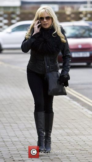 Letitia Dean arriving at the Chichester Festival Theatre to perform in 'Calendar Girls' Sussex, England - 28.01.10