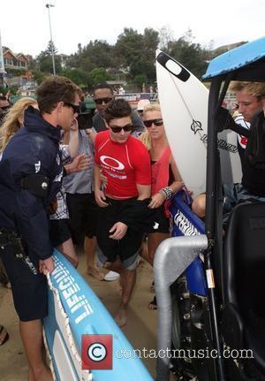 Zac Efron  visits Bondi Beach to go surfing Sydney, Australia -16.02.10
