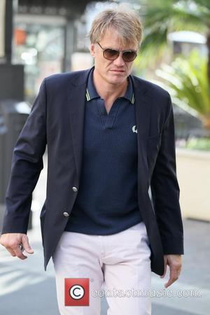 Dolph Lundgren and his daughter go shopping at The Grove Hollywood, California - 01.03.11
