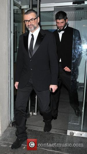 George Michael  leaving the George Michael Charity Performance at The Royal Opera House for the Elton John AIDS Foundation's...