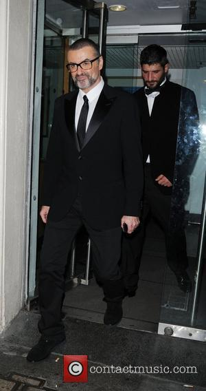 George Michael  leaving the Royal Opera House after performing a charity concert for the Elton John AIDS Foundation's Elizabeth...