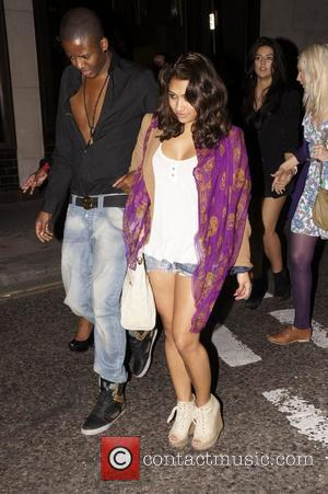 Vanessa White leaving the Gumball 3000 launch party at the Playboy Club London, England - 25.05.11