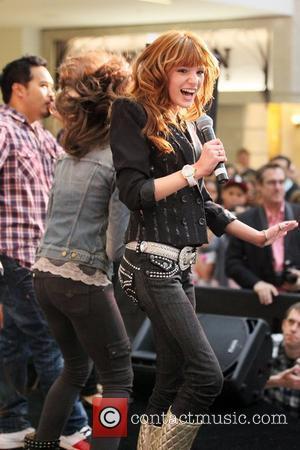 Zendaya Coleman & Bella Thorne stars of the Disney Channel's new hit series Shake it Up! make their signature shake...