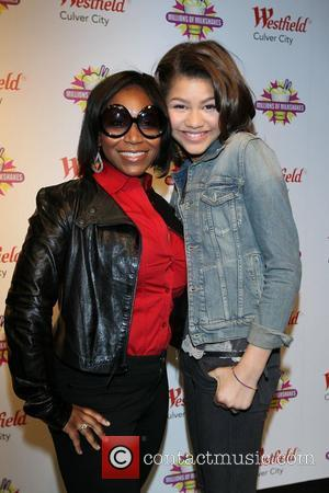 Zendaya Coleman poses with Chastity Clark. The star of the Disney Channel's new hit series Shake it Up! makes her...