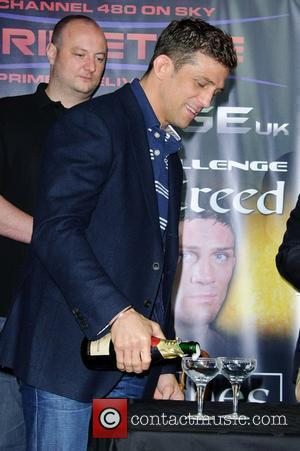 Alex Reid Alex Reid and Jason Barrett announce their forthcoming MMA Cage Fight. London, England - 20.07.11
