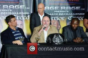 Alex Reid and Jason Barrett Alex Reid and Jason Barrett announce their forthcoming MMA Cage Fight. London, England - 20.07.11